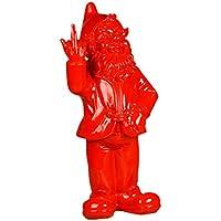 Stoobz Estatua de nomo Atrevido n.° PP 005RO, 15x 12x 32cm para el hogar y el jardín, Color Rojo