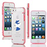 Apple iPhone 4 4s Ultra Thin Transparent Clear Hard TPU Case Cover Scotland Scottish Flag (Light Pink)