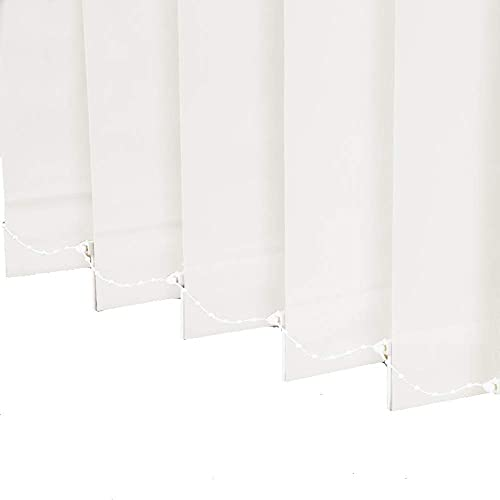 LETAU 100 Blackout Vertical Window Shades, 3inch Slat Fabric Thermal Insulated Energy Saving UV Protection Decoration Vertical Window Blinds