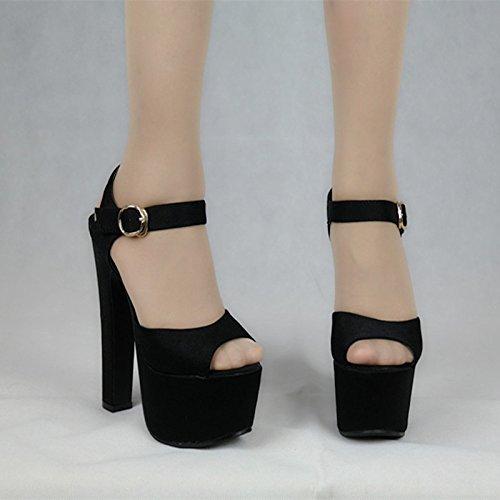d16dfc21 30% de descuento XiaoGao 15 cm de grueso tacon peep toe con zapatos de tacon