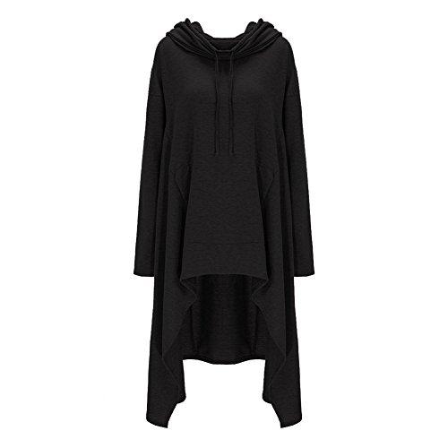 Kangaroo Hoodies Black Outerwear Coat Xuan2Xuan3 Dress Pockets Women's Sweatshirts Zw717TRAq