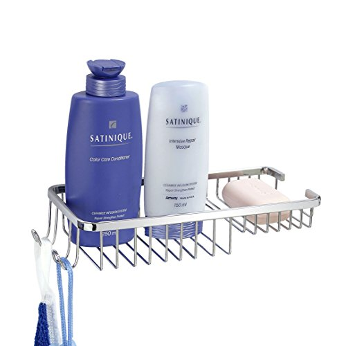 """MODONA Wall Mounted 11"""" Soap and Bottle Basket with Concealed Screws"""