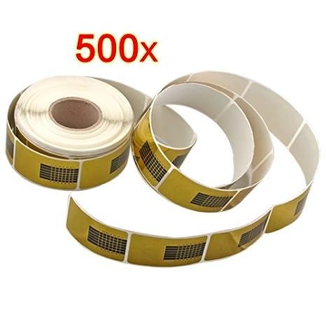 500 X Pegatinas Moldes Guías Uñas Dorados Auto Adhesiva: Amazon.es: Belleza
