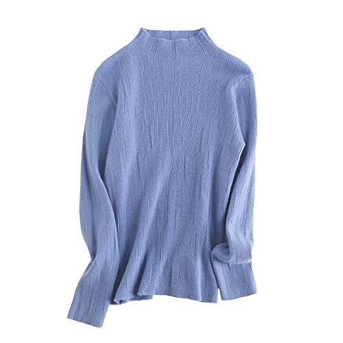 Lunga Donna Manica Blu Maglione Dissa 7E4wxgSRqP