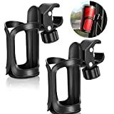 Abenkle Bike Cup Holders Stroller Drinks Bollte Holder for Walker 2 Pack, Universal Bike Bottle Holders for Baby Stroller, Pushchair, Bicycle, Wheelchair and Motorcycle