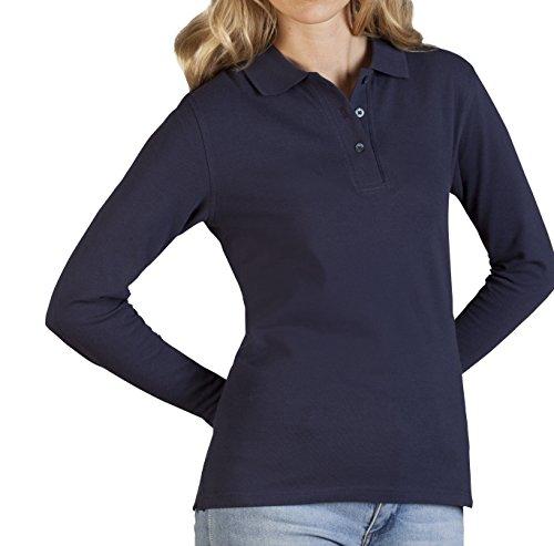 Promodoro Langarm Poloshirt - Damen Knopfleiste - Gr. XS S M L XL XXL
