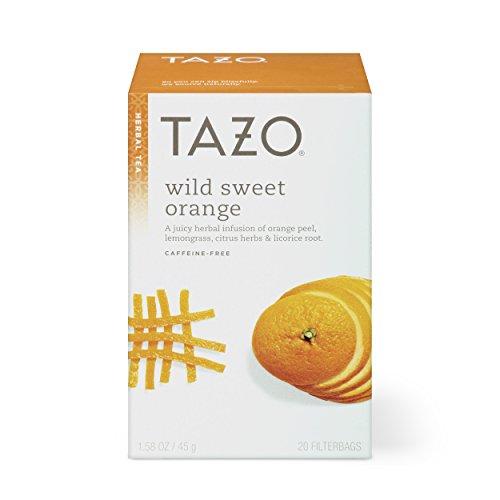 (Tazo Wild Sweet Orange Herbal Tea Filterbags 20 ct, Pack of 6)