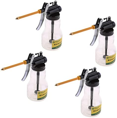 joyMerit 潤滑油用4本オイル缶オイルポット高圧ポンプオイラースプレーホース