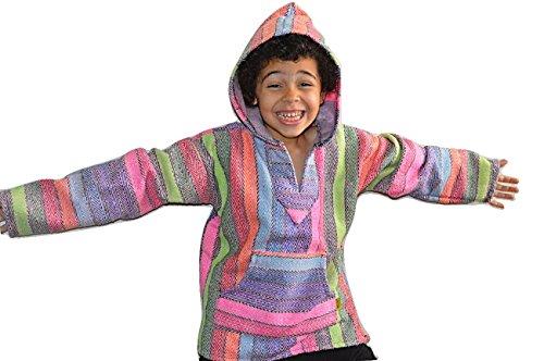 Baja Hoodie Kids Mexican Rainbow Drug Rug Sweatshirt - Baja Hoodies Boys