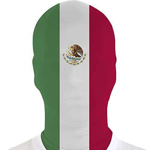 Morphsuits Morphmask Flag Mexico, Blue/White/Red, One Size ()