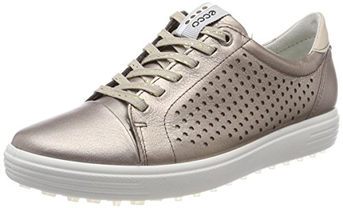 (ECCO Women's Casual Hybrid Perforated Golf-Shoe, Warm Grey, 6 M US)