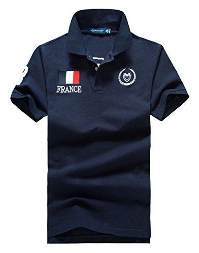 (シンアンドケン) sin&ken ポロシャツ メンズ シャツ 半袖 ポロ ゴルフウェア トップス 2XL FRA ネイビー [並行輸入品]