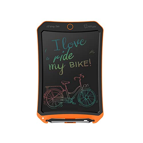 Dmxiezib 10 Inch Color Screen LCD Tablet Student Graffiti Painting Board Office Business Record Message Board LCD Writing Tablet Colourful Screen Red LCD Writing Tablet (Color : Orange)