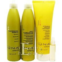 "UNA Compensating Shampoo, Daily Hydro-Active Conditioner, Intensive Protein 250ml ""SET I"""