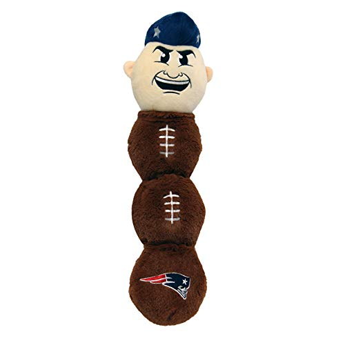 NFL New England Patriots - PAT Patriot Mascot Toy for Pets. Plush Dog Toy with 5 Inner SQUEAKERS. 21