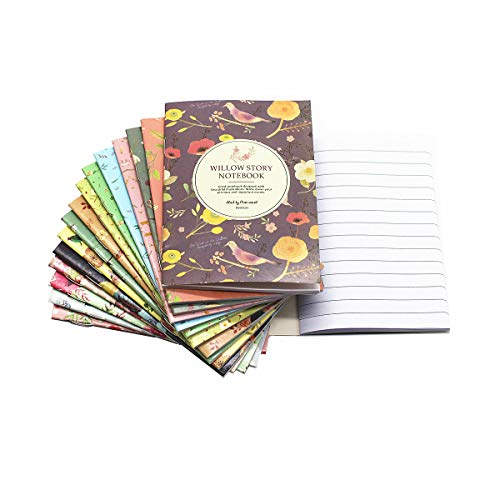 (TANG SONG 16PCS Color Series Softcover Lined Paper Notebook Journal Diary Set 16 Unique Design Pack-18Sheets/36pages (3.3''x4.7''/ LxW))