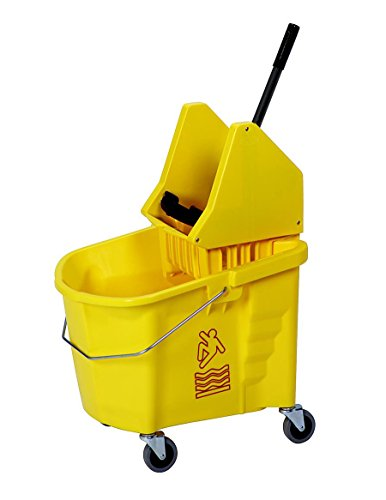 Continental 335-37YW, Splash Guard and Backsaver Combo Set with Down-Press Wringer, Yellow (Case of 1)