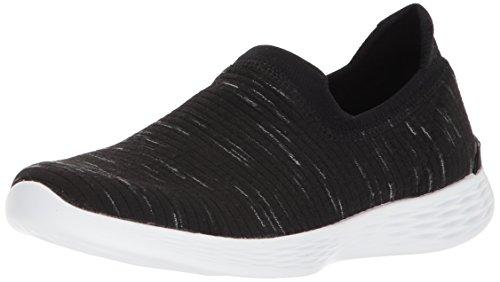 Skechers Dames Je Zen Sneaker Zwart / Wit