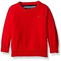 Tommy Hilfiger Baby Boys' Long Sleeve Alan Crew Neck Sweater, Bulls Eye, 12 M...