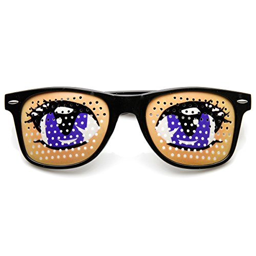 zeroUV - Poker Face Animal Goofy Eyes Costume Party Novelty Sunglasses - Glasses Lashes With