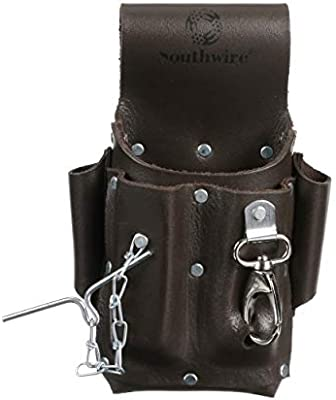 Amazing Leather Tool PouchFive Pockets to hold your ToolsGreat as an Elect