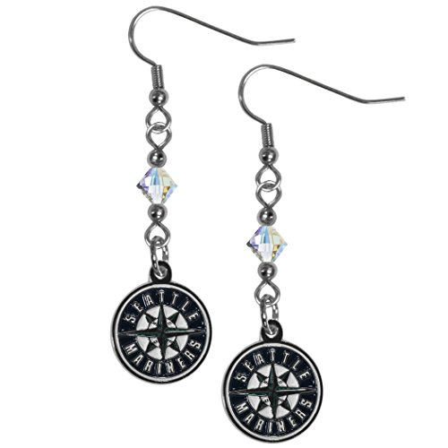 MLB Seattle Mariners Crystal Dangle Earrings
