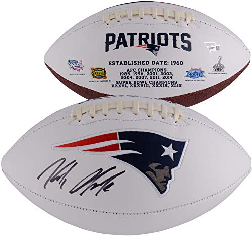 (Rob Gronkowski New England Patriots Autographed White Panel Football - Fanatics Authentic Certified - Autographed Footballs)