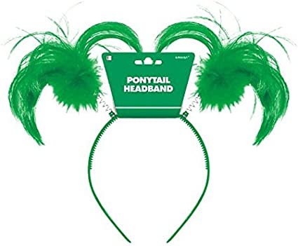 Party Accessory TradeMart Inc 317894 Patricks Day Green Feather Ponytail Headbopper Amscan St