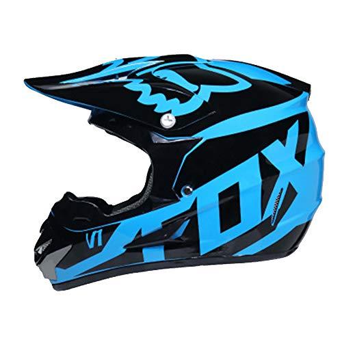Adult Helmet Man Woman Motorbike Full Face Motorcycle Road Race ATV Crash Helmet Off-Road Motorbike Karting Motocross Helmets Included Mask Gloves Goggles,M ()