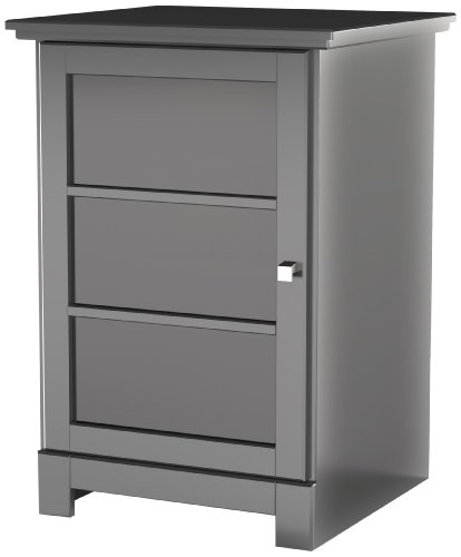 Pinnacle 1-Door Audio Tower 101706 from Nexera - Black - Modular 3 Shelf Tv Stand