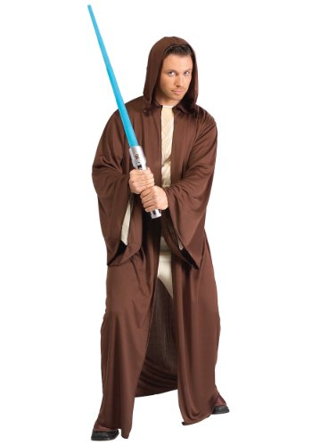 Obi One Kenobi Costume (Star Wars Hooded Jedi Robe, Brown, Standard Costume)