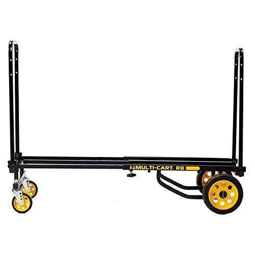 "Rock-N-Roller R8RT (Mid) 8-in-1 Folding Multi-Cart/Hand Truck/Dolly/Platform Cart/34"" to 52"" Telescoping Frame/500 lbs. Frame Capacity, Black from Rock-N-Roller"