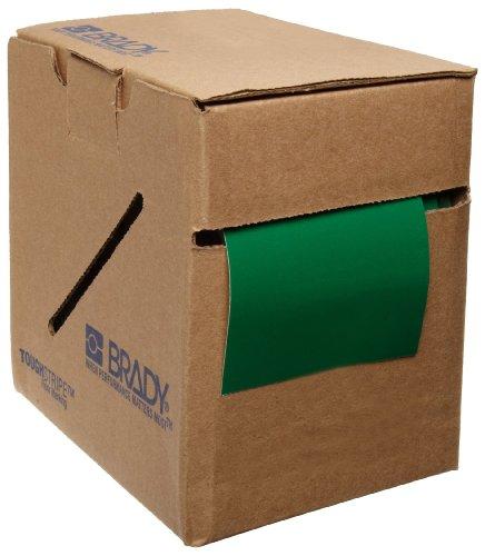 Brady ToughStripe Nonabrasive Floor Marking Tape, 100 Length, 3 Width, Green (Pack of 1 Roll)