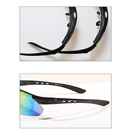 Gafas Pesca Lentes Deportivas Protección Ciclismo UV Alpino Unisex C Sol Polarizadas 5 De De HECHEN Esquí Grupos Intercambiables Gafas D BqdwFqR
