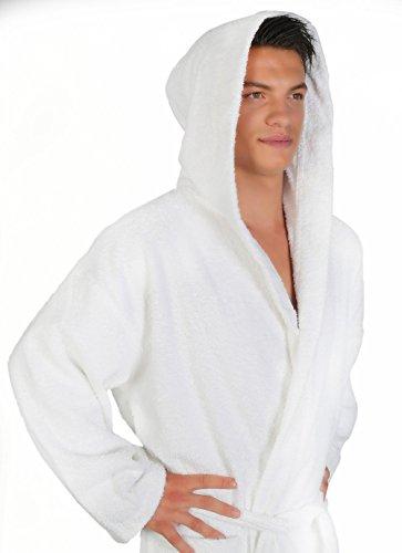 Arus Men's Classic Hooded Bathrobe Turkish Cotton Terry Cloth Robe