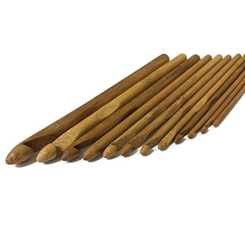 T-UPPERMOST 12 size Bamboo Sweater knitting Circular Handle Crochet Hooks Smooth Weave Craft Needle