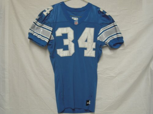1999-Detroit-Lions-34-Ron-Rivers-Game-Worn-Jersey