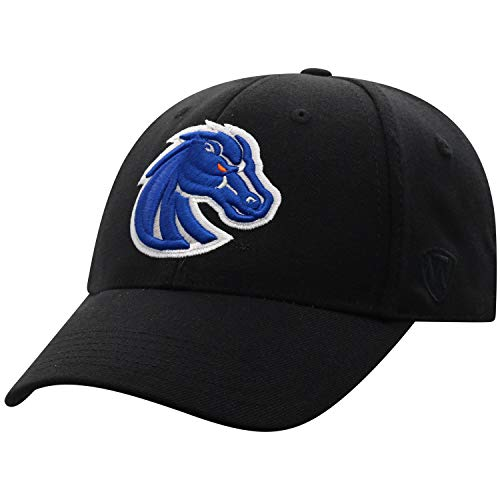 Top of the World Boise State Broncos Men's Memory Fit Hat Icon, Black, One Fit Boise State Broncos Wool