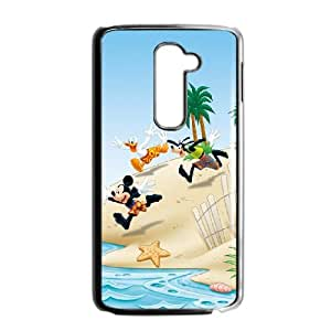 LG G2 Cell Phone Case Black Mickey Mouse and Donald Duck BNY_6893551