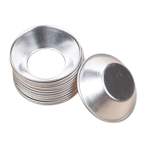 Bezall 20pcs Anodized Aluminum Egg Tart Mold Cupcake Pie Cookie Tins Pudding Mould Baking Cups