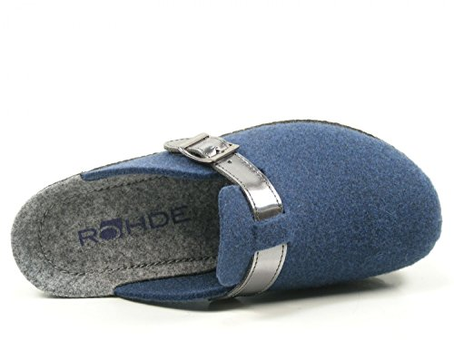 Rohde ladies felt slipper 2282-34 blue Blau 6ngdYDeZ