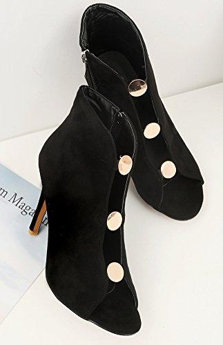 Eclair Aisun Low Peep Fermeture Boots Femme M Toe Mode w0SrnF0Uqp