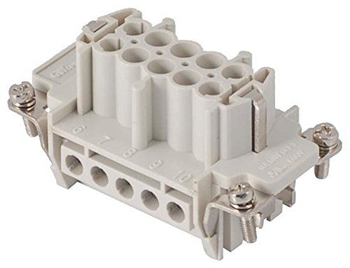 10 Contacts Screw Socket 93601 Series Insert 10B MOLEX//GWCONNECT Receptacle 7310.6004.0 Heavy Duty Connector