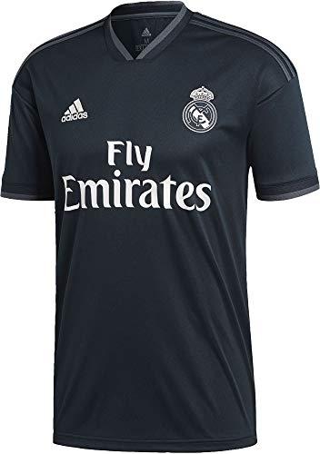 adidas Real Madrid 2018/19 Short Sleeve Away Jersey - Adult - Tech Onix/Bold Onix/White - -