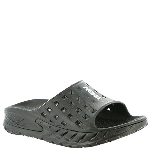 Hoka One One Mens Ora Recovery Black/Anthracite Slide - 10