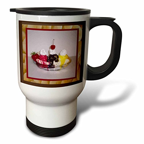 3dRose Susan Brown Designs Dessert Themes - Banana Split - 14oz Stainless Steel Travel Mug (tm_14813_1) for $<!--$24.99-->