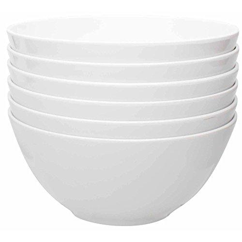 Zak Designs 1313-9411-ISET Ella Soup Bowls, Set, Eggshell White