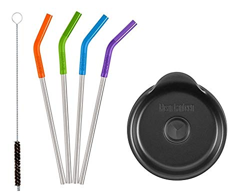 Klean Kanteen 5 Piece Straw Set-Multi Color and 1 Straw Lid