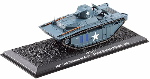 Deagostini 1:72 Diecast Model Tank - LVT A-1 708th Tank Battalion US Army Saipan Mariana Islands 1944 Army Tank #19