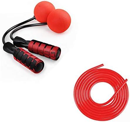 電子縄跳び インドアスポーツエクササイズアクセサリーをスキップ多機能スキッピングロープスキッピングデジタルカウンティング 調節可能な長さの電子スキップロープ (色 : Red, Size : Rope length 3m)